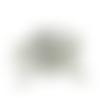 Lot de 10 strass cabochons ovales à facettes en synthétique  - 10 x 5 mm
