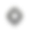 Pendentif support cabochon ovale en métal couleur argenté 54 x 36 mm