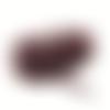 50 centimètres de ruban en velours marron 4 mm de largeur