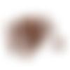10 perles tonneau acrylique marron 7 x 6 mm
