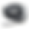 Cordon en coton ciré lustré noir et blanc - 2 mm - cordelette vendue en 50 cm