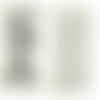 2 étiquettes en tissu imprimé tour eiffel vintage - 65 x 20 mm - étiquette paris en coton à coudre