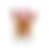 Bouton en bois de noel  - 38 x 25 mm - bouton chien pour couture ou scrapbooking