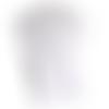 5 pochettes cadeaux / emballage bijoux /  sachets cadeaux  blanc / argenté motif baroque  7 x 12 cm