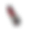 Patch écusson thermocollant rouge à lèvre 67 x 23 mm