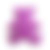 Applique ourson en feutrine violet à coudre - 60 x 55 mm - écusson ours à coudre