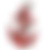 Patch ecusson thermocollant ancre marine à coudre ou repasser 114 x 80 mm