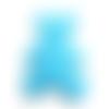 Applique ourson en feutrine bleue à coudre -  60 x 55 mm - écusson à coudre ours