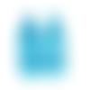 2 breloques chaussures en résine bleue 37 x 15 mm - pendentif chaussure en lot de 2