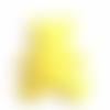 Appliqué ourson en feutrine jaune -  60 x 55 mm - écusson à coudre ours