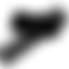 Ruban dentelle noire - 25 mm - dentelle fabriquée en france -  vendu au mètre