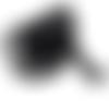 Ruban élastique dentelle résilles noires  - 15 mm - vendu en 75 cm