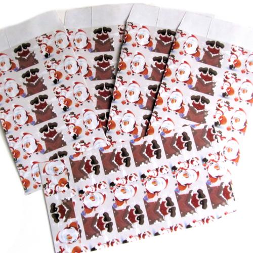 5 pochettes cadeaux noël - emballage bijoux - sachets cadeaux -  7 x 13 cm