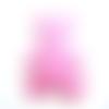 Applique ourson en feutrine rose - 60 x 55 mm - écusson à coudre ours