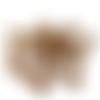 5 perles marron à facettes en acrylique - 8 mm - perles rondes