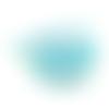 Ruban gros grain bleu imprimé pois - 10mm - vendu en 50 cm - petit ruban fantaisie