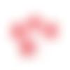 Lot de 5 boutons vichy rouge et blanc - 13 mm  -  boutons fantaisies pour couture ou scrapbooking