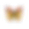 Bouton papillon en bois  - 28 x 20 mm - bouton pour couture ou scrapbooking
