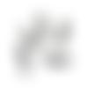 Lot de 5 breloques petit garçon en métal couleur argenté - 19 x 8 mm - pendentif boy