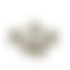 5 breloques pièces anglaises en métal bronze - 15 x 12 mm -  petits pendentifs elisabeth ii