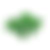 Lot de 10 perles rondes et vertes en verre à facettes - 6 mm - perles vert bouteille