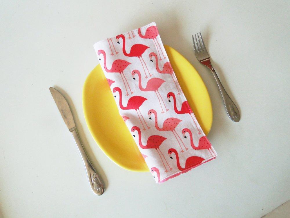 Serviette de table SUR COMMANDE enfant doublé avec prénom coton zéro déchet écologique lavable