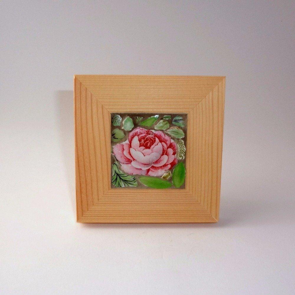 """Tableau """"Mini rose pâle"""""""