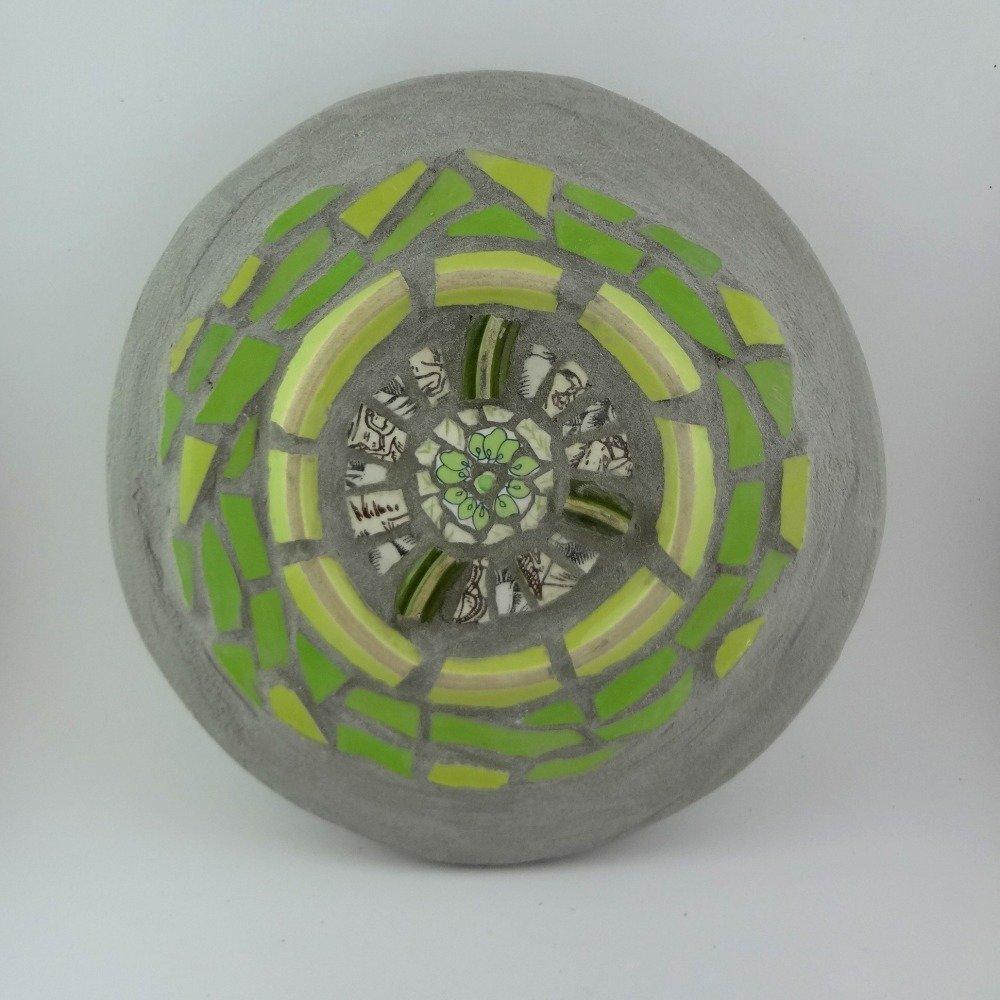 "Mandala ""Vert tendre"" - Tableau mosaïque"