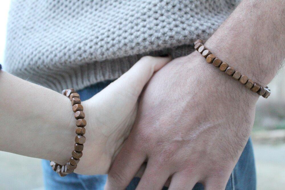 Bracelets perles couple