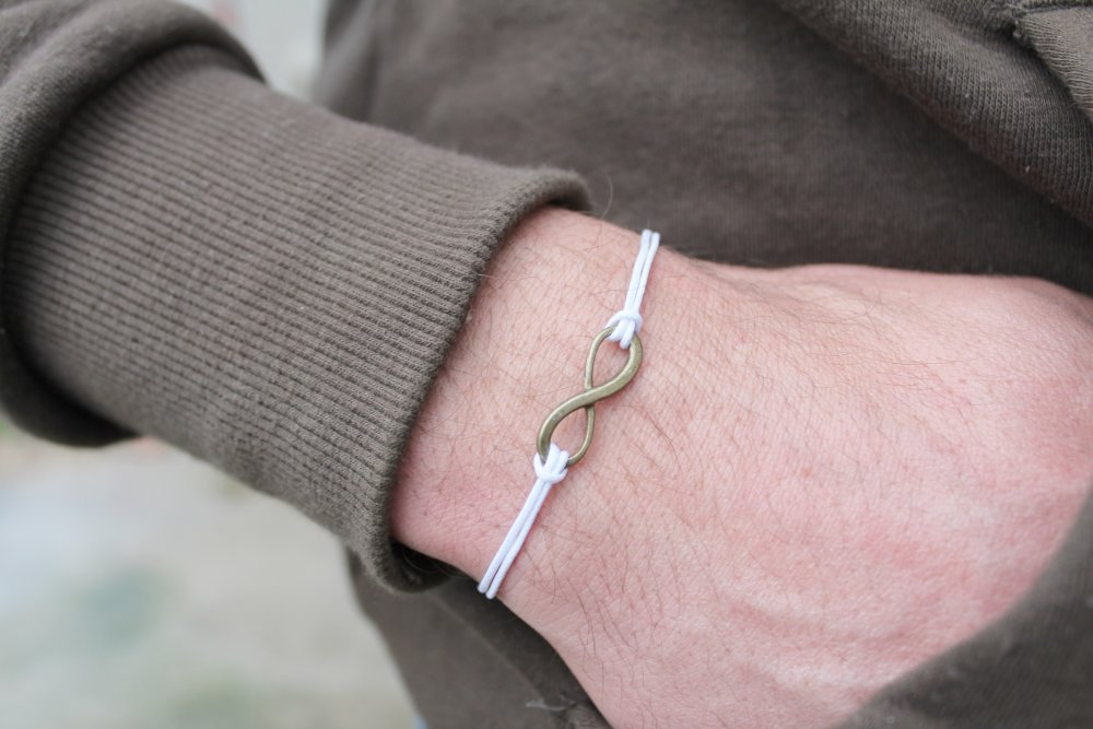 Bracelet infini blanc