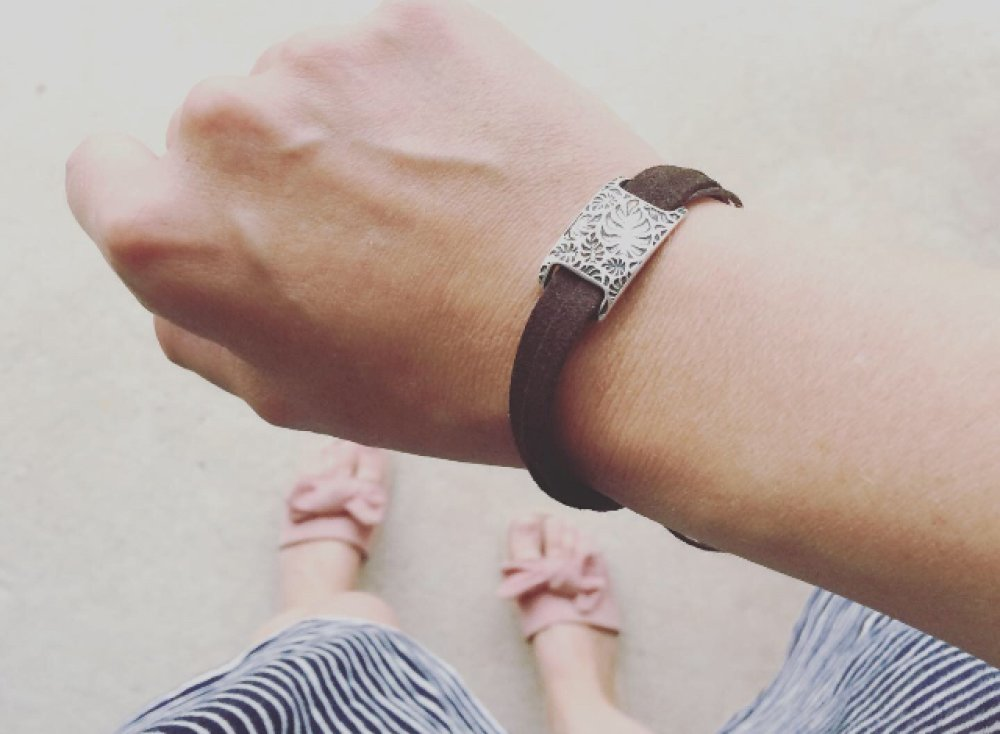 bracelet femme feuille