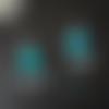 """""""eblouissante""""boucles d'oreilles créole turquoise bleues"""