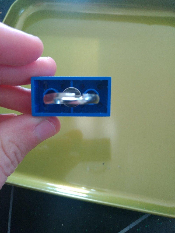 Bague Lego bleu