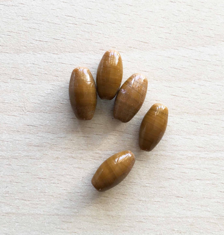 perles en pierre naturelle chocolat 15 mm
