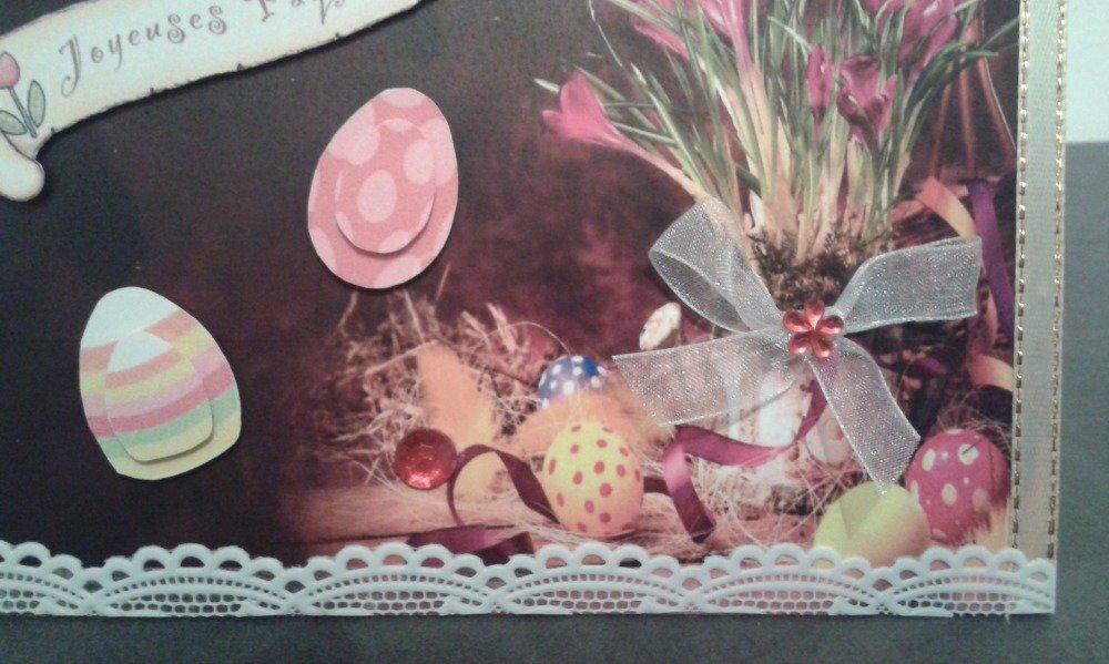 carte pour la fête de pâques