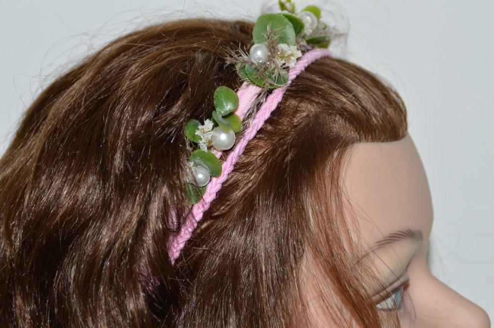 Headband Rose Pampa
