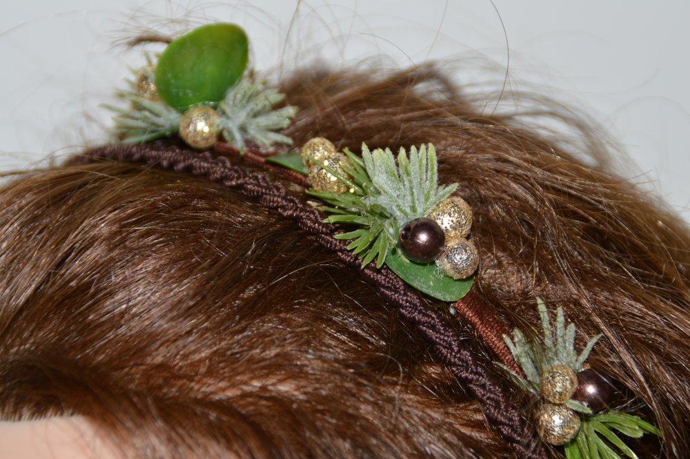 Headband Noël Chocolat et Or