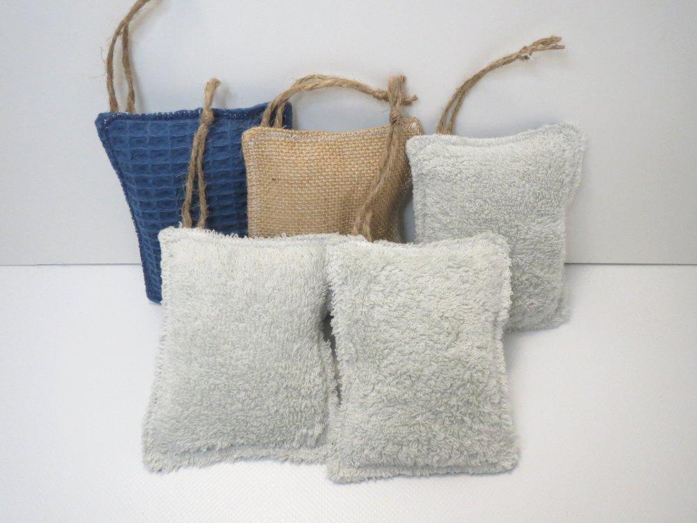 """Éponges lavables et réutilisables,zéro déchet,écologique,lot de 5 éponges """"bleues"""""""