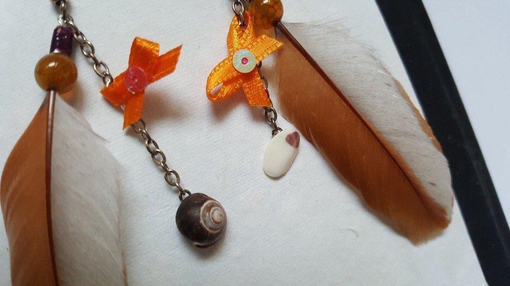 Boucles d'oreille originales - Patchwork