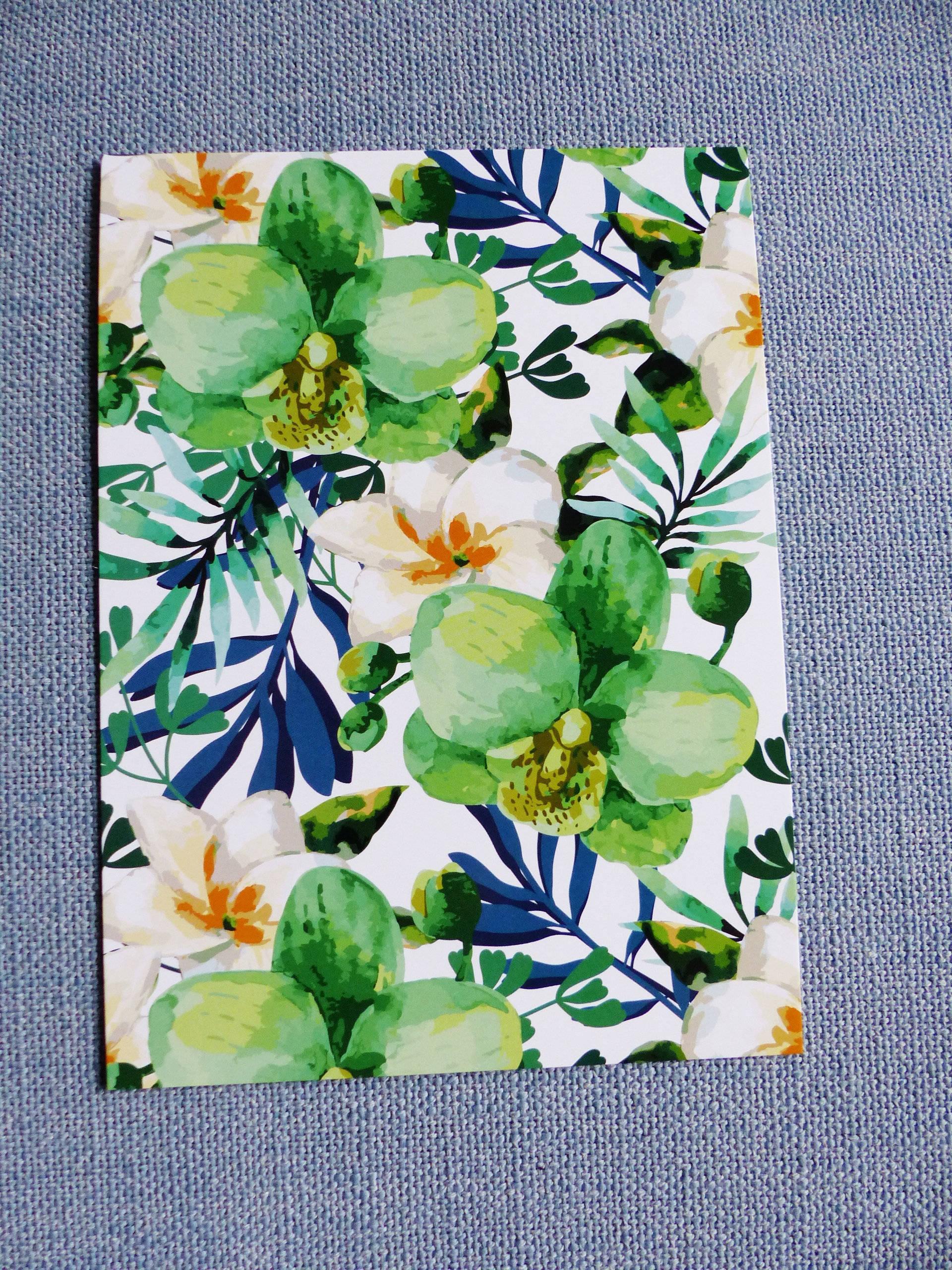 """affiche orchidée fleur   13 x 18 cm 5 x 7 """" pouces à encadrer"""