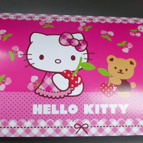 Boite cadeau berlingot grande 25 centimètres hello kitty rose