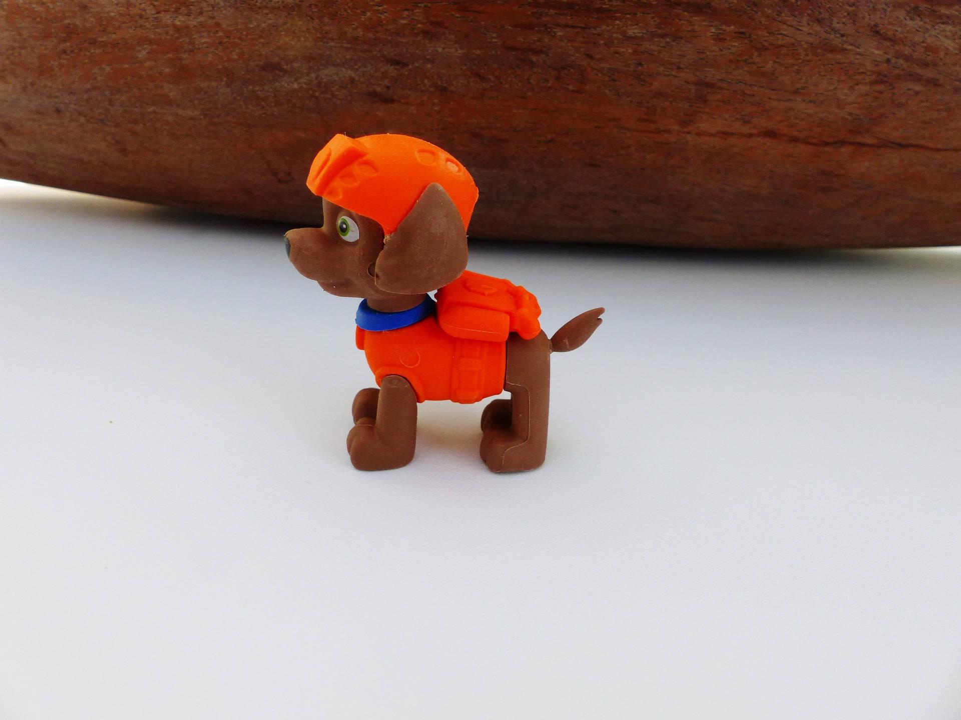 gomme puzzle Zuma de la Pat patrouille Paw Patrol 6 cm