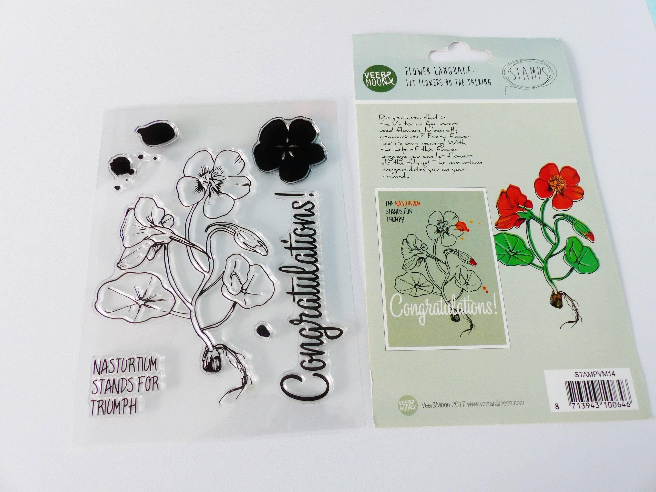 tampon transparent CAPUCINE  langage des fleurs, clear stamp  fleur