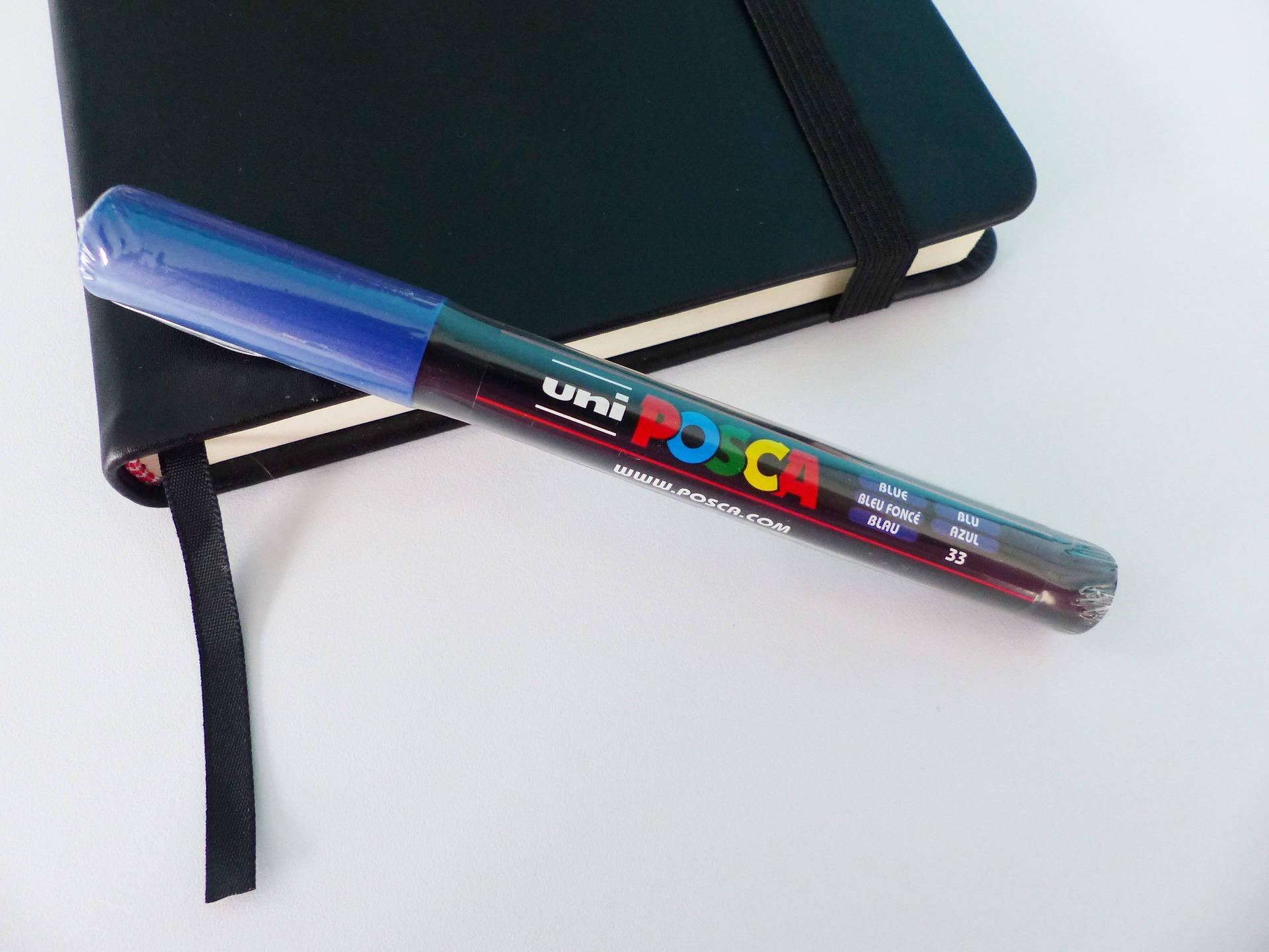 feutre marqueur POSCA bleu foncé pointe conique PC 3M 0.9-1.3 mm bullet shaped numero 33