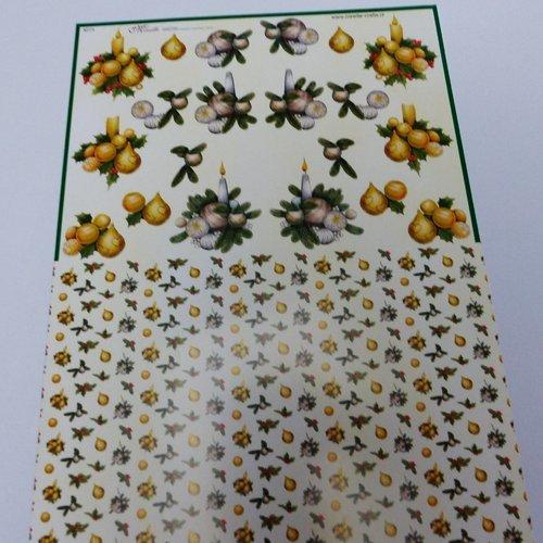 Papier de découpage feuille a4 noel bougie papier découpage collage fond pour 3d