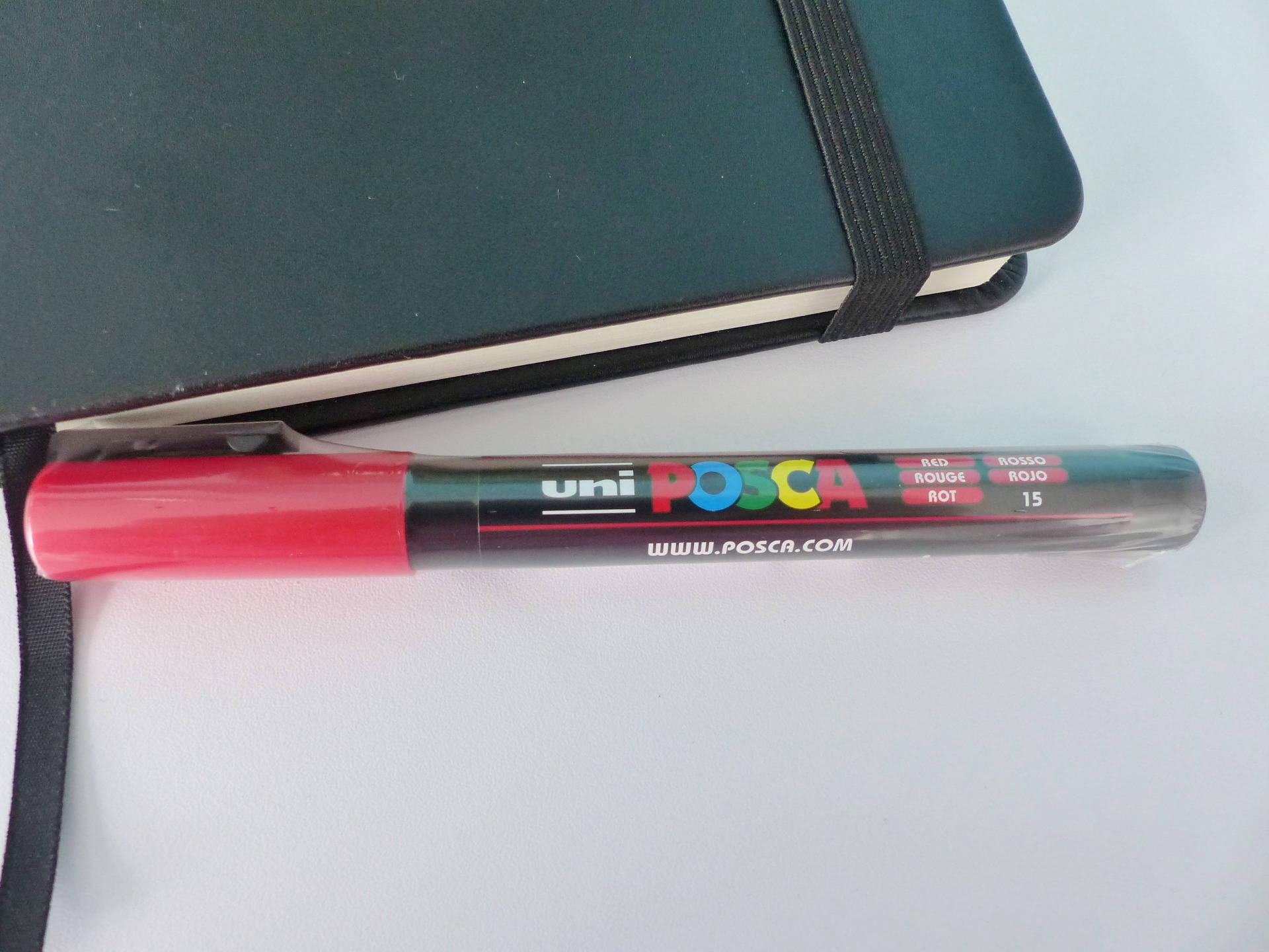 feutre marqueur POSCA rouge pointe conique PC 3M 0.9-1.3 mm bullet shaped numero 15