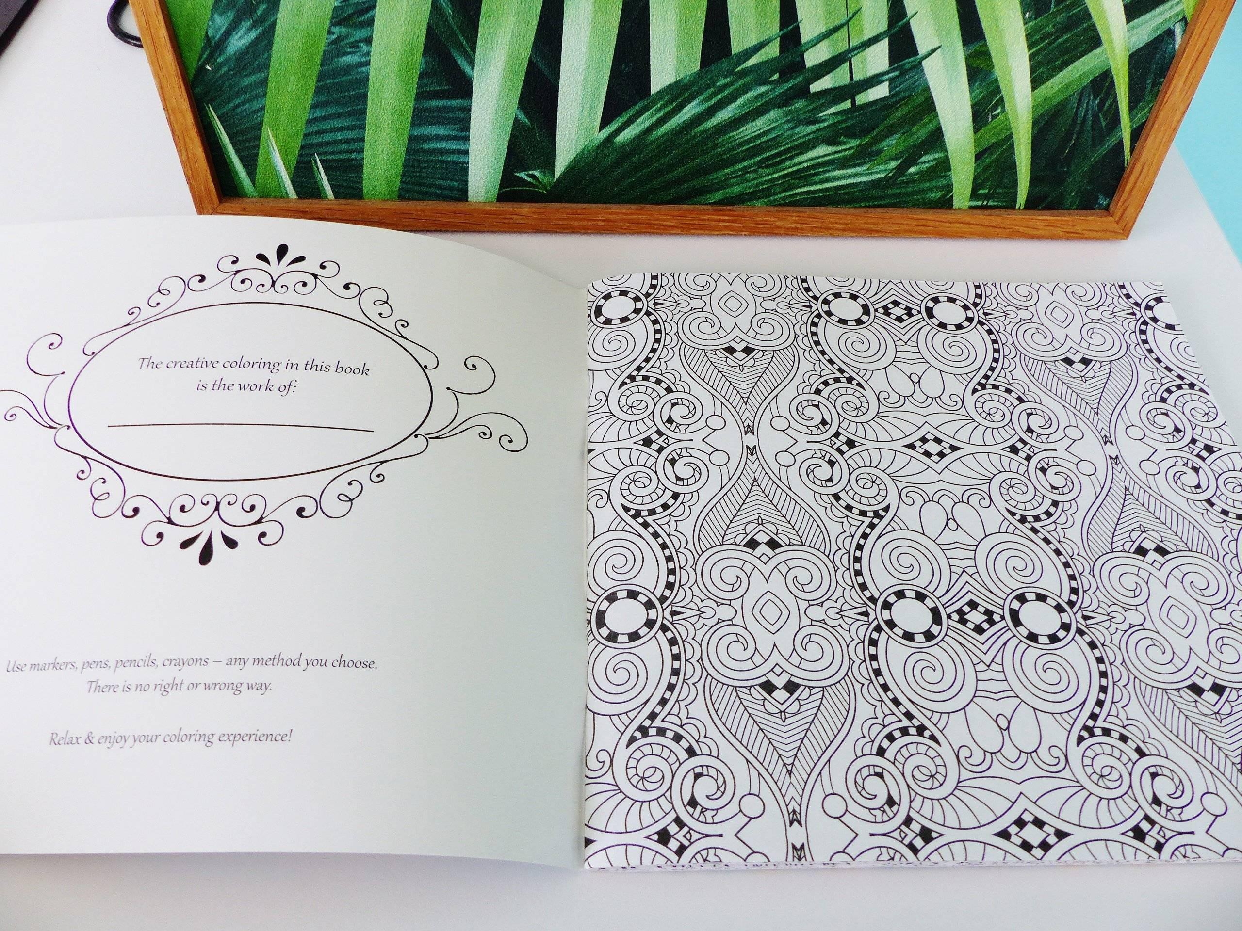 livre de coloriage daring designs vague mandala motif géométrique coloring book