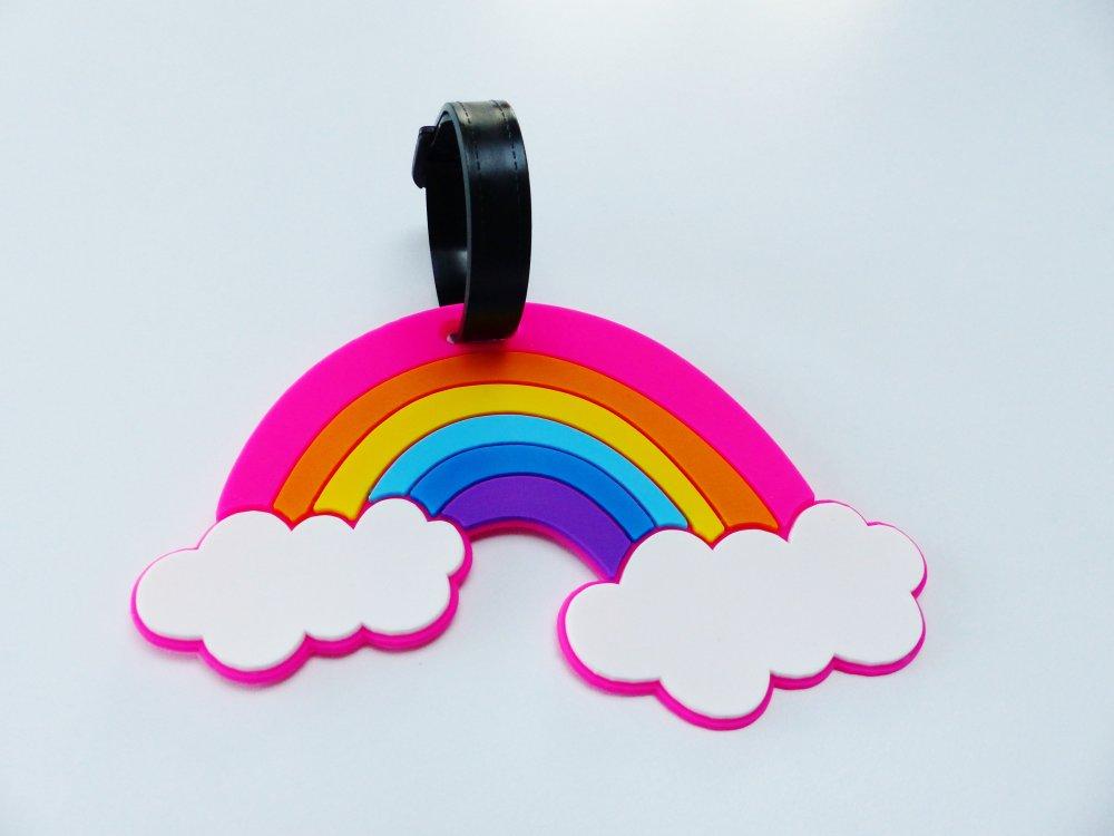 étiquette bagage arc en ciel, rainbow, valise ,sac voyage