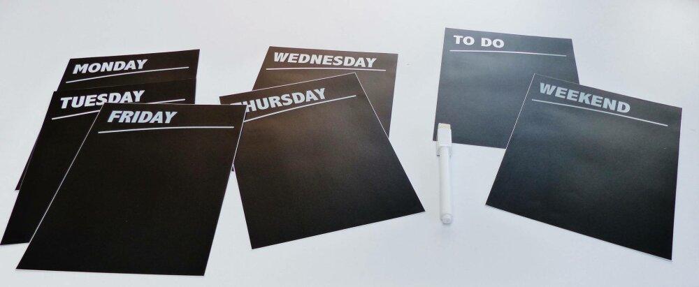 tableau planificateur à la semaine semainier hebdomadaire +1 marqueur effaceur