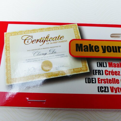 10 feuilles papier pour créer diplôme, certificat, 10 sticker excellence